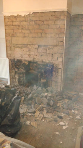 Old fireplace removal