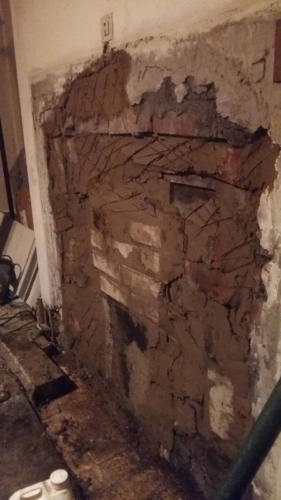 Fireplace blocked up